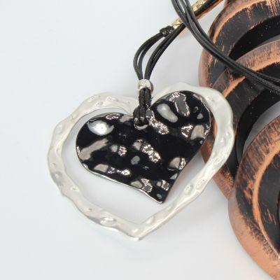 Halskette mit Herz Anhänger Handarbeit Mehndi Vintage Geschenkidee - 1