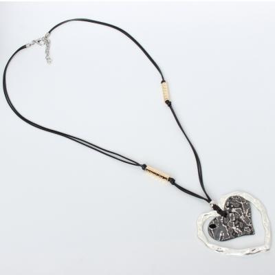 Halskette mit Herz Anhänger Handarbeit Mehndi Vintage Geschenkidee - 2