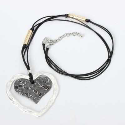 Halskette mit Herz Anhänger Handarbeit Mehndi Vintage Geschenkidee - 3