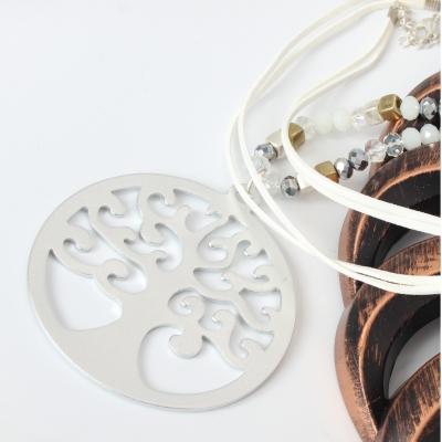 Halskette mit Lebensbaum Anhänger Handarbeit Mehndi Vintage Geschenkidee - 1
