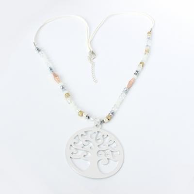 Halskette mit Lebensbaum Anhänger Handarbeit Mehndi Vintage Geschenkidee - 2