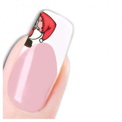Tattoo Nail Art Nikolaus Santa Weihnachten Weihnachtsmann Aufkleber Nagel Sticker - 1