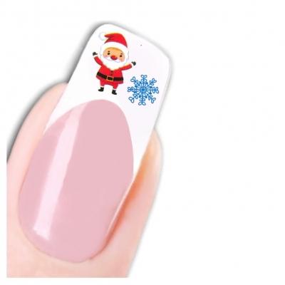 Tattoo Nail Art Nikolaus Santa Weihnachten Schneeflocke Aufkleber Nagel Sticker - 1