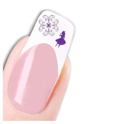 Tattoo Nail Art Alice im Wunderland Blume  Aufkleber Nagel Sticker - 1