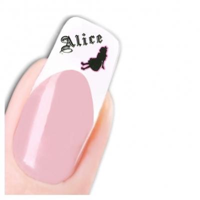 Tattoo Nail Art Alice im Wunderland Herz Rose Aufkleber Nagel Sticker - 3