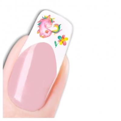 Tattoo Nail Art Aufkleber Einhorn Blume Nagel Sticker - 1