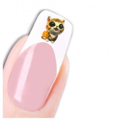 Tattoo Nail Art Aufkleber Katze Eule Nagel Sticker - 1