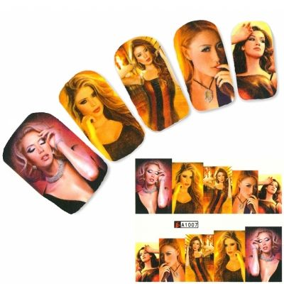 Tattoo Nail Art Aufkleber Modell Glamour Teenager Nagel Sticker