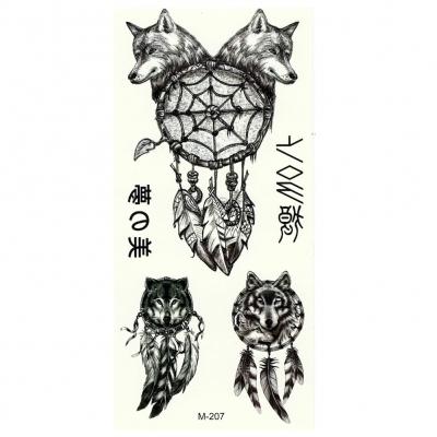 Temporäres Tattoo Wolf Traumfänger Design Temporary Klebetattoo Körperkunst - 1