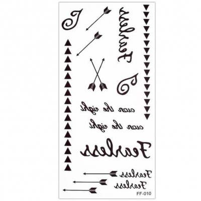 Temporäres Tattoo Furchtlos Pfeile Design Temporary Klebetattoo Körperkunst - 1