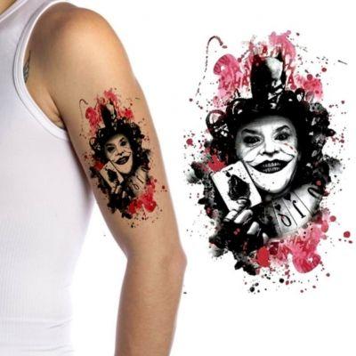 Temporäres Tattoo Joker Design Temporary Klebetattoo Körperkunst - 2