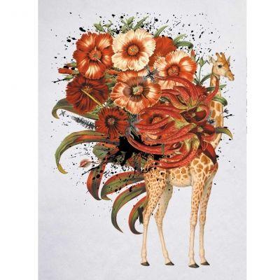 Temporäres Tattoo Giraffe Blume Design Temporary Klebetattoo Körperkunst - 1