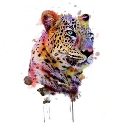 Temporäres Tattoo Tiger Bunt Design Temporary Klebetattoo Körperkunst - 1