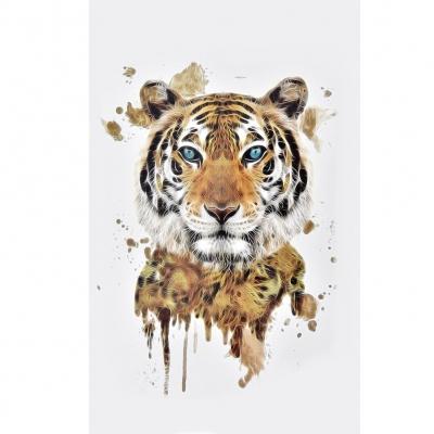Temporäres Tattoo Brauner Tiger Design Temporary Klebetattoo Körperkunst - 1