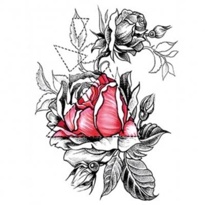 Temporäres Tattoo Rosen Design Temporary Klebetattoo Körperkunst - 1
