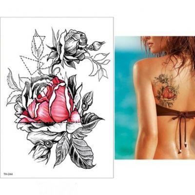 Temporäres Tattoo Rosen Design Temporary Klebetattoo Körperkunst - 2