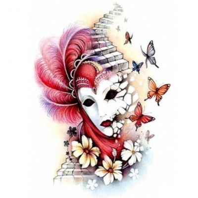 Temporäres Tattoo Maske Schmetterling Design Temporary Klebetattoo Körperkunst - 1