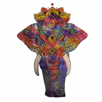 Temporäres Tattoo Elefant Mehndi Indisch Mandala Design Temporary Klebetattoo Körperkunst - 1