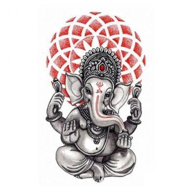 Temporäres Tattoo Krishna Elefant Design Temporary Klebetattoo Körperkunst - 1