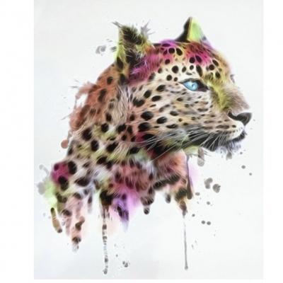 Temporäres Tattoo Tiger Bunt Katze Design Temporary Klebetattoo Körperkunst - 1