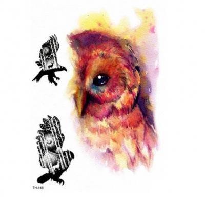 Temporäres Tattoo Eule Adler Design Temporary Klebetattoo Körperkunst - 1
