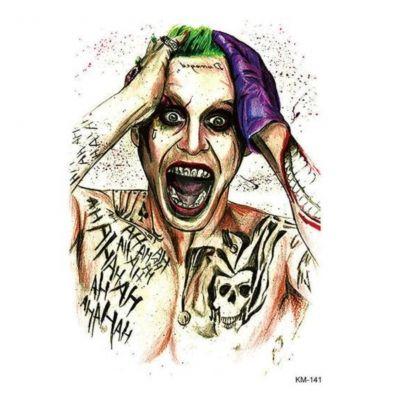 Temporäres Tattoo Joker Design Temporary Klebetattoo Körperkunst - 1