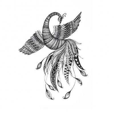 Temporäres Tattoo Phönix Vogel Design Temporary Klebetattoo Körperkunst - 1