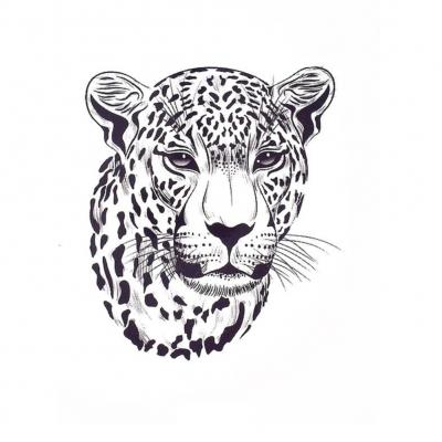 Temporäres Tattoo Tiger Design Temporary Klebetattoo Körperkunst - 1