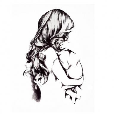 Temporäres Tattoo Mutter mit Kind Liebe Design Temporary Klebetattoo Körperkunst - 1