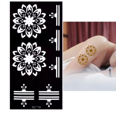 Henna Tattoo Schablone Airbrush Stencil Lotosblumen - 1