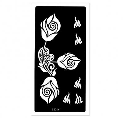 Henna Tattoo Schablone Airbrush Stencil Rosen - 1
