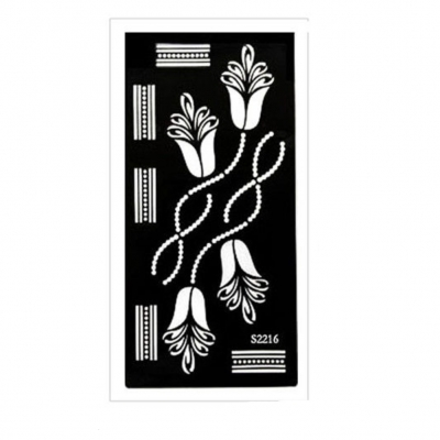 Henna Tattoo Schablone Airbrush Stencil Blume Ornamente - 1