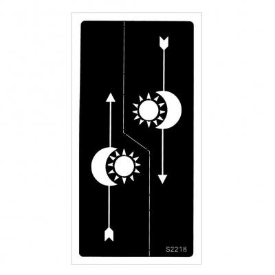 Henna Tattoo Schablone Airbrush Stencil Mond und Sonne - 1