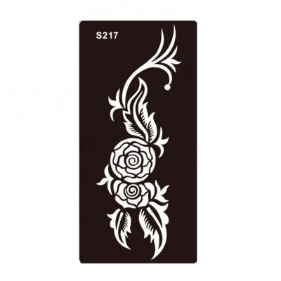 Henna Tattoo Schablone Airbrush Stencil Blume Rose - 1