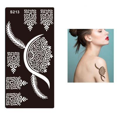 Henna Tattoo Schablone Airbrush Stencil Ornamente - 1