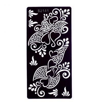 Henna Tattoo Schablone Airbrush Stencil Blume - 1