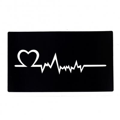 Henna Tattoo Schablone Airbrush Stencil Herzschlag Herz - 1