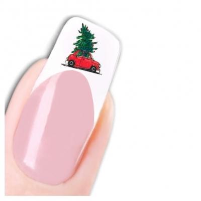 Tattoo Nail Art Nikolaus Weihnachten Weihnachtsbaum Aufkleber Nagel Sticker - 1