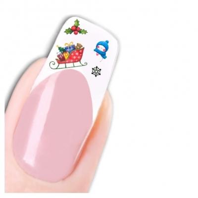 Tattoo Nail Art Nikolaus Weihnachten Schneemann Aufkleber Nagel Sticker - 1