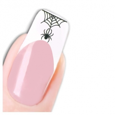 Tattoo Nail Halloween Spinne Katze Aufkleber Nagel Sticker - 1