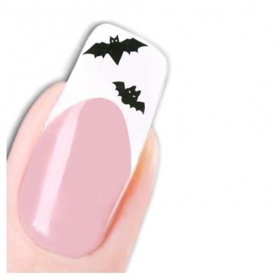 Tattoo Nail Halloween Totenköpfe Kerzen Aufkleber Nagel Sticker - 1
