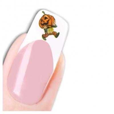 Tattoo Nail Halloween Vampirzähne Glitzer Hexe Aufkleber Nagel Sticker - 1