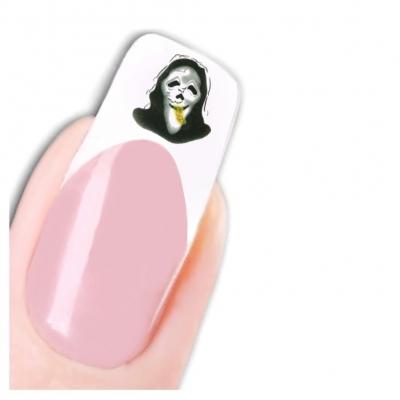 Tattoo Nail Halloween Totenköpfe Katze Aufkleber Nagel Sticker - 1
