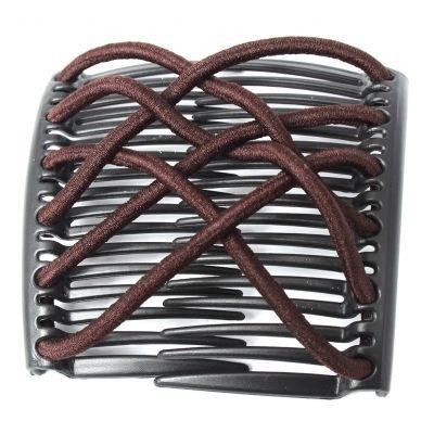 Trend African Hairclip Haarklammer Haarspange Hair Clips Haarkamm Braun - 2
