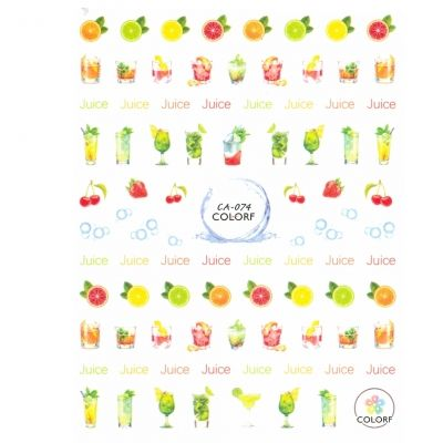 3D Nagel Sticker Nail Art Aufkleber Kirsche Erdbeeren Saft Aufkleber New Design - 1