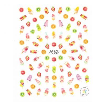 3D Nagel Sticker Nail Art Aufkleber Erdbeeren Kiwi Eis Aufkleber New Design - 1