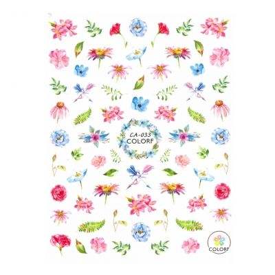 3D Nagel Sticker Nail Art Aufkleber Blüten Blumen Aufkleber New Design - 1