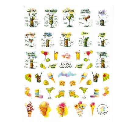 3D Nagel Sticker Nail Art Aufkleber cocktails Eis Zitrone Aufkleber New Design - 1