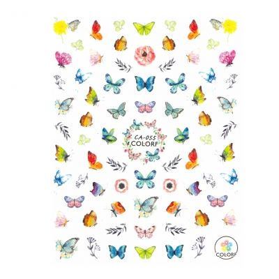 3D Nagel Sticker Nail Art Aufkleber Schmetterlinge Blumen Aufkleber New Design - 1
