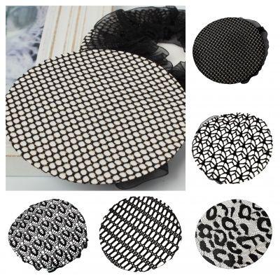Dutt Netz Haarnetz Bun Frisurenhilfe Stoff Knotennetz Spitzenstoff Schwarz - 1